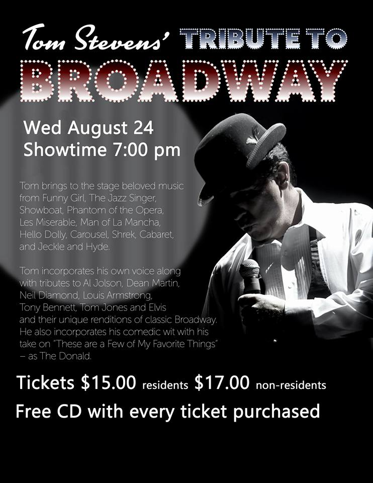 Broadway Tribute Show at Sun City Aliante Club House at 7:00 PM